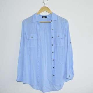 Blue blouse fits size 6/8