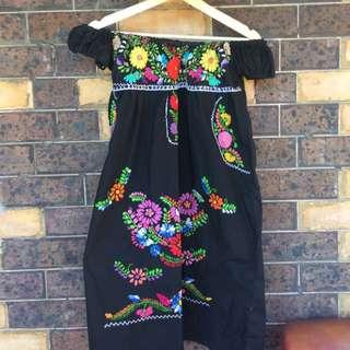 Off Shoulder Vintage Dress