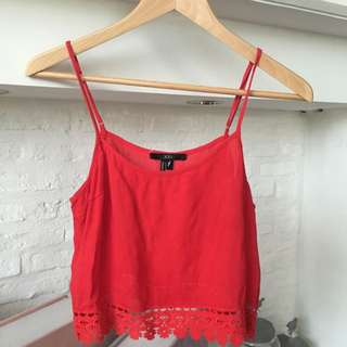 Forever 21 - Red Crop Top / Bikini Cover Up