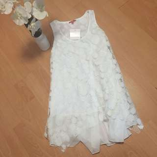 Brand New White Mess Dress Size 8