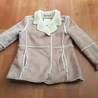 MNG Mango Girl Suede Coat