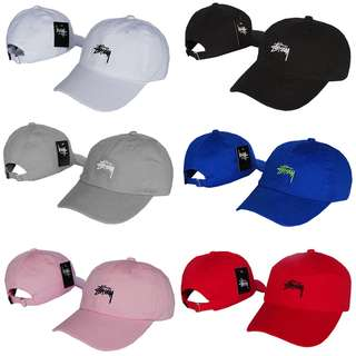 Stussy Stock Curve Brim Golf Cap Hat Caps Hats with Adjustable Strapback