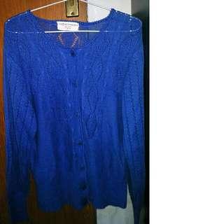 Knitted Cardigan Biru