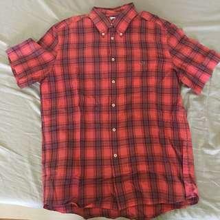 Lacoste格紋短袖襯衫