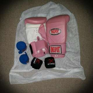 Ladies Boxing Gloves and Wraps
