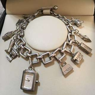 *authentic* burberry silver charm bracelet