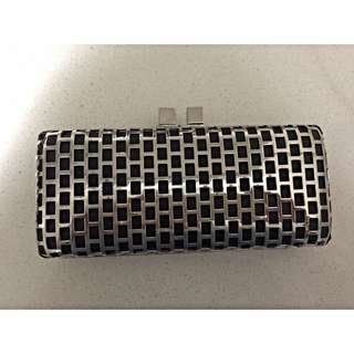 Silver and Black Clutch