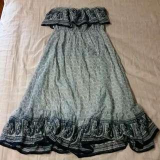 Chino Tube Maxi Dress (Chiffon)