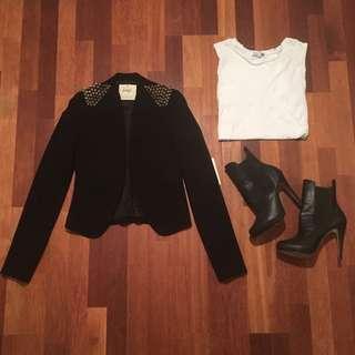 Jorge Studded Blazer Jacket XS 6 New With Tags