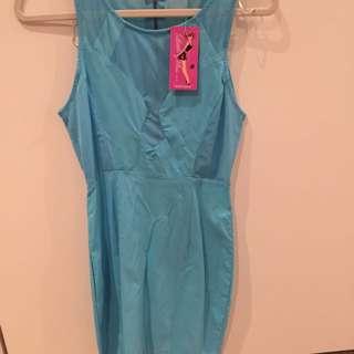 Blue Dress, Worn Tight (10)