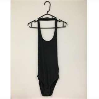 Black Low Back Bodysuit