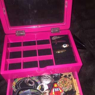 Fluro Pink Jewellery Box