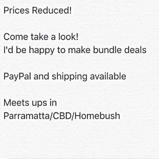 Prices Reduced!