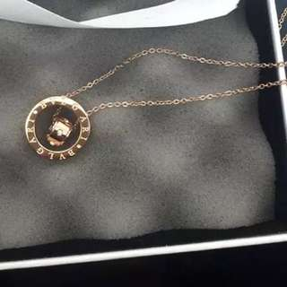 Rose Golden Color Necklace In Bvlgari Style
