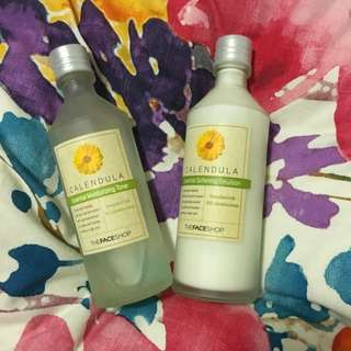 The Face Shop Calendula Toner& Moisturizer Set