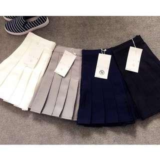 網球裙 🎾 白色 L 百褶裙 短裙 百折裙 啦啦隊