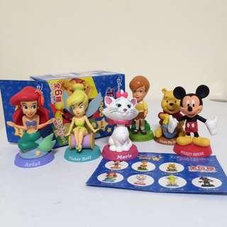 Toyful 迪士尼 搖頭公仔 米奇 維尼 小美人魚 瑪莉貓 小仙子 出清 一套