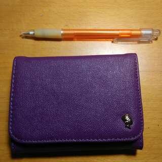 Porter 皮夾 零錢 紫色 限量款 短夾