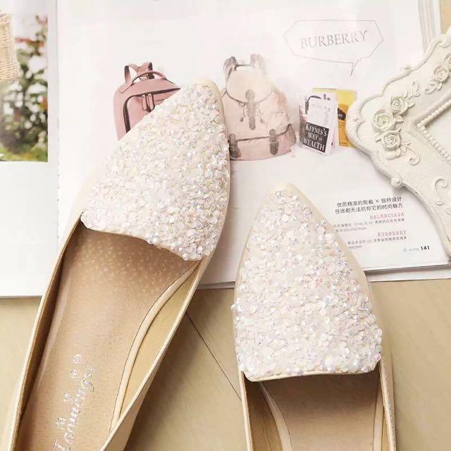 貝殼鑽平底鞋💎全新🆕