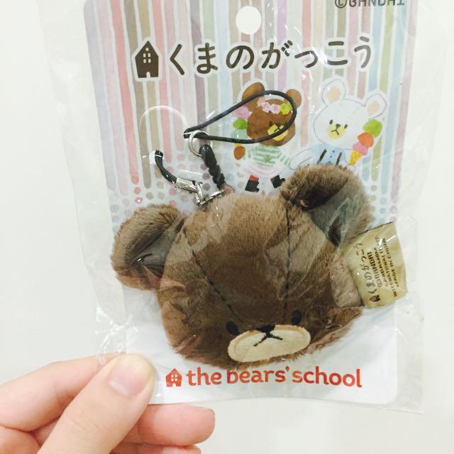 小熊學校吊飾+手機擦布