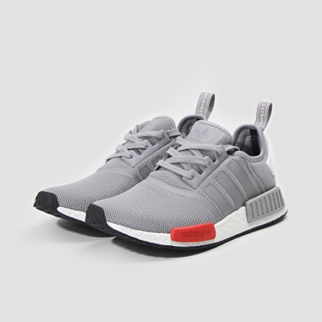 reputable site 4cae9 b83f2 Adidas NMD R1 Grey w Red