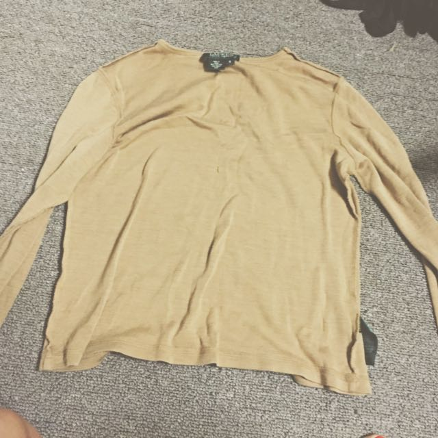 Beige Ralph Lauren Long Sleeve