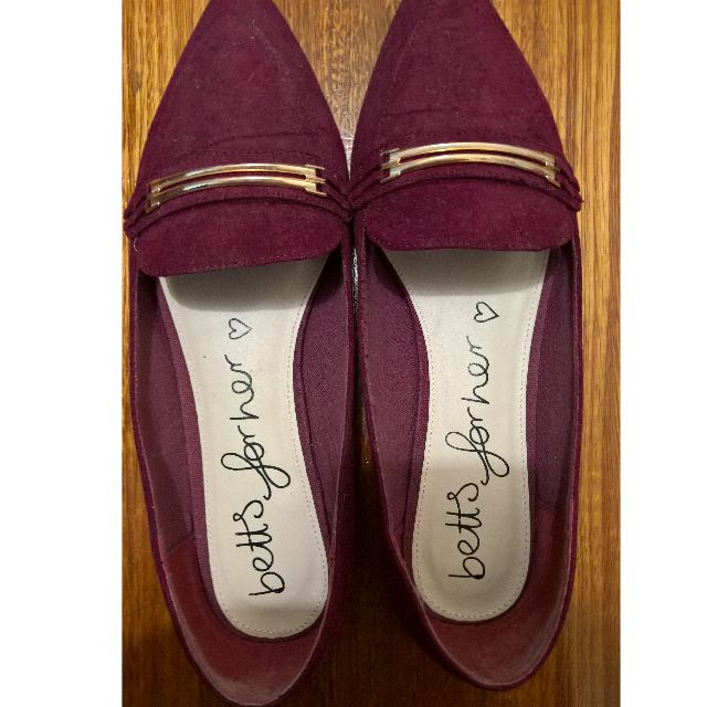 Betts suede loafer flats sz8