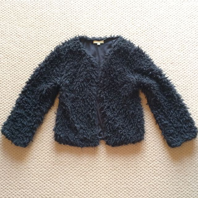 Black Fluffy Jacket