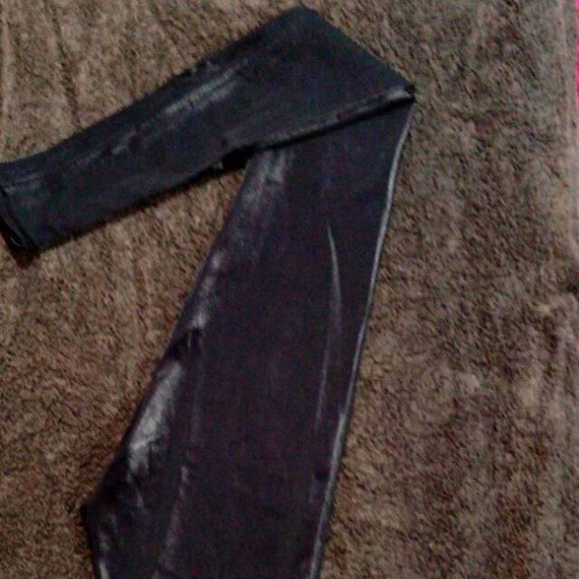 Black Milk Wet Look Leggings (XS) Discontinued Piece