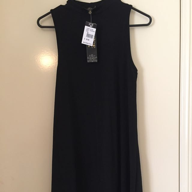 Black Plain Dress Ice