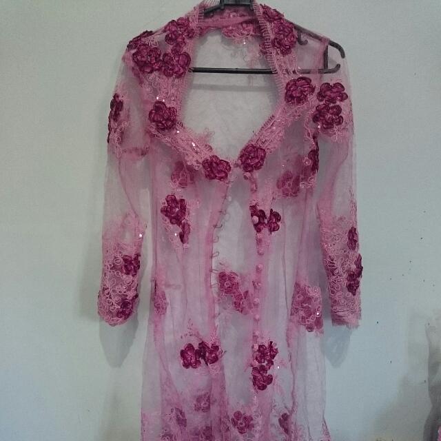 Blinking Purple Pink Kebaya With Sequins
