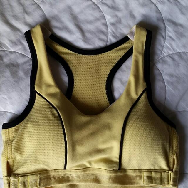 Blockout Sport yellow womens sports bra