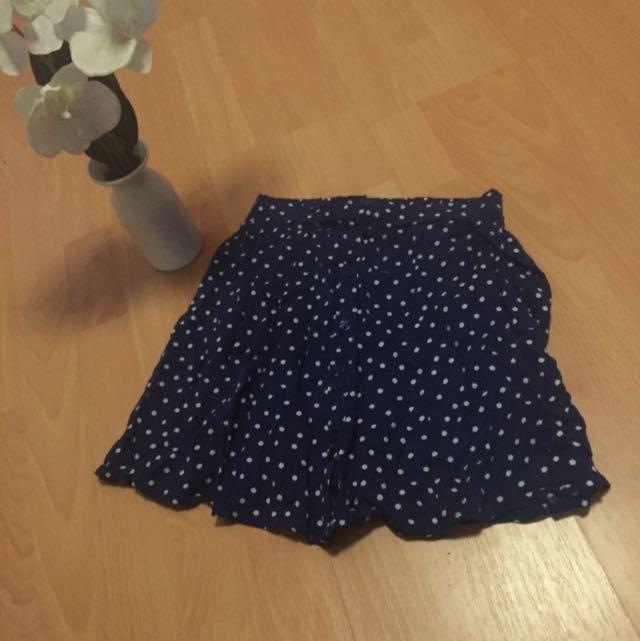 Blue Button High Waisted Skirt Size 6