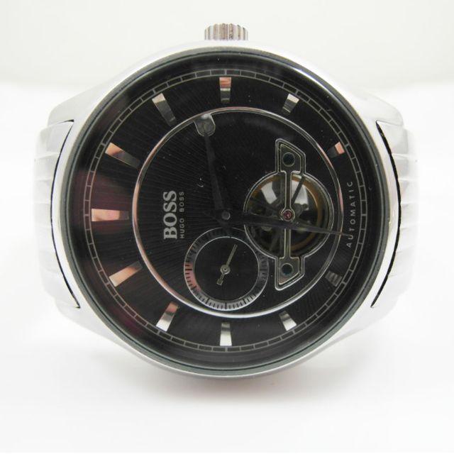 BOSS HUGO BOSS 限量陀飛輪視窗獨立秒盤鋼錶 機械錶 自動上鍊 9.5成新