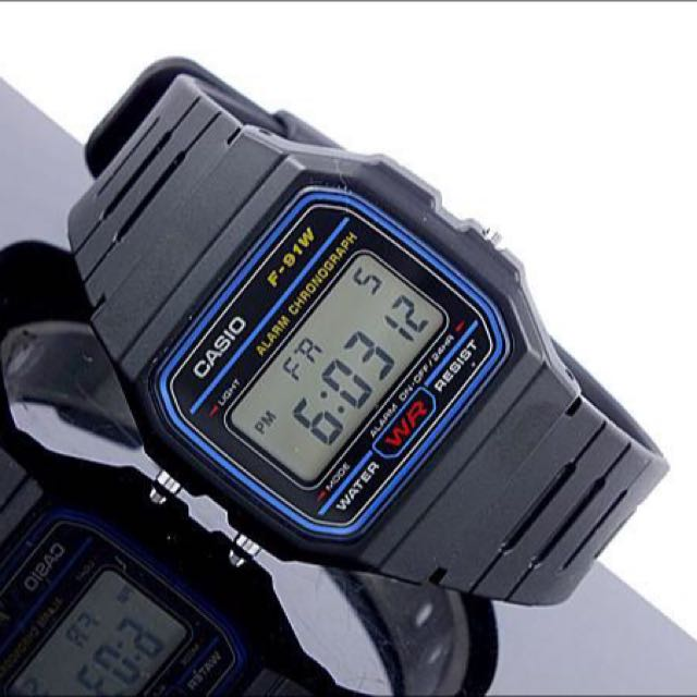 1743d831c Casio Digital Watch New Authentic F91W-1 Men's Unisex Black Blue ...