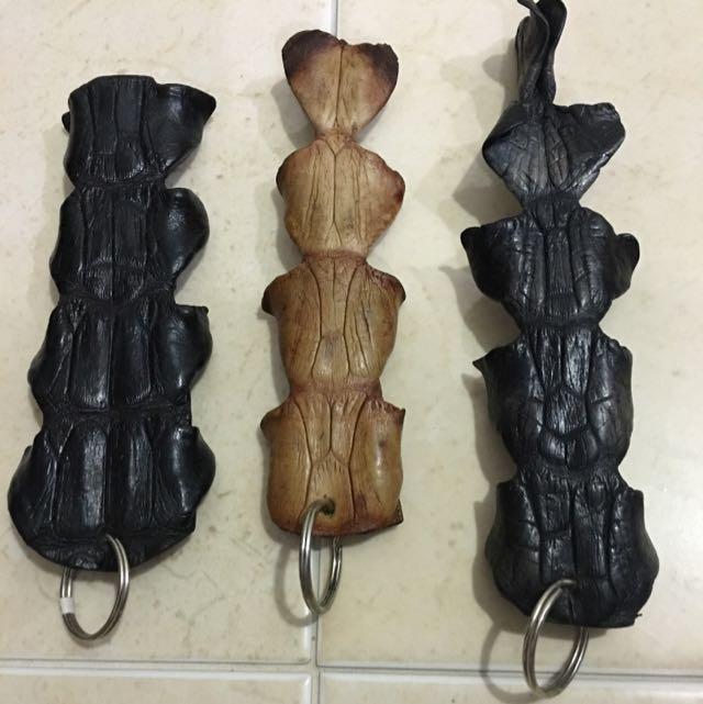 Crocodile Skin Key Chain