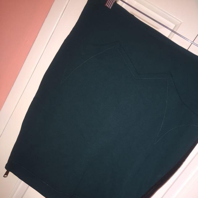 Diesel Emerald Pencil Skirt