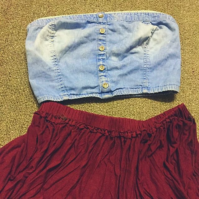 Garage Denim Crop Top