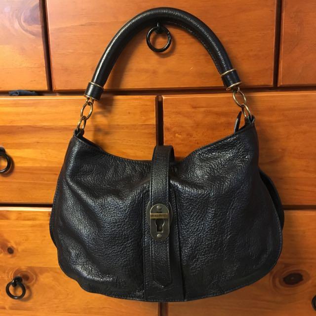 Genuine Black Burberry Handbag