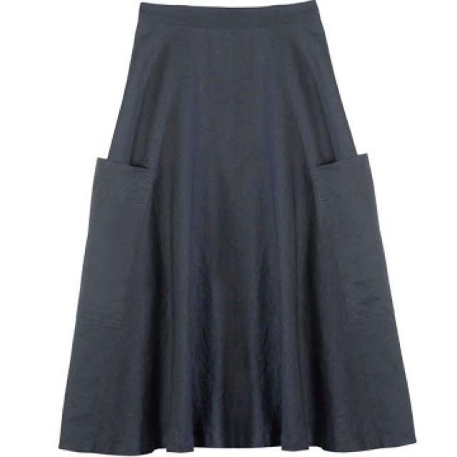 Gorman High Waisted Linen Skirt 10