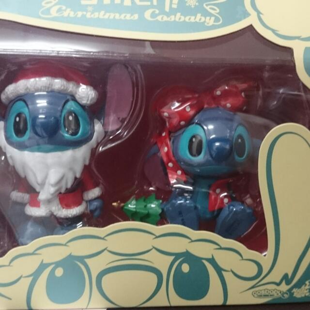 Hot Toys 迪士尼 聖誕節 史迪奇 雙入公仔