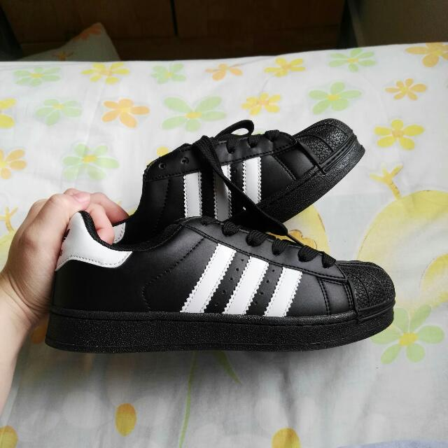 Inspired Adidas Superstar (BLACK)