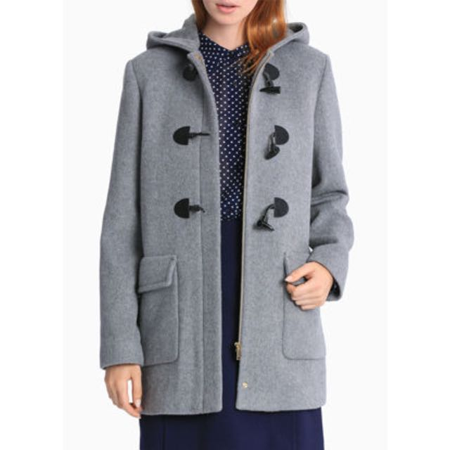 Karen Walker Silver Hooded Duffle Coat
