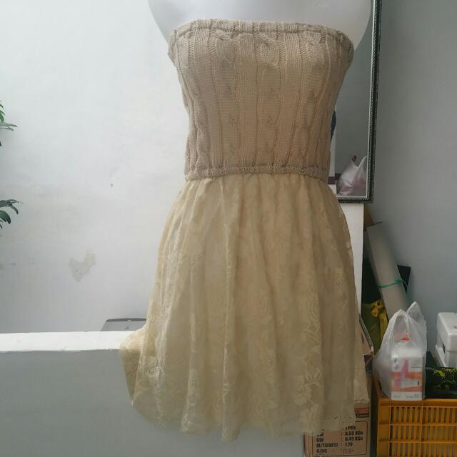 Minidress Knit Lace