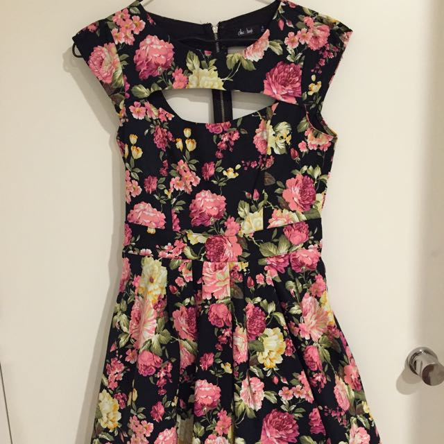 Neck cut Flare Out Dress Size 8