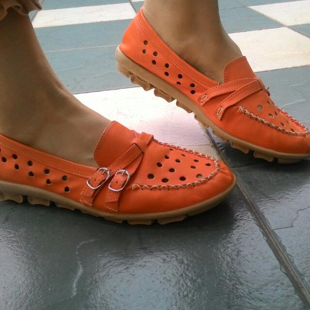 New Orange Slip On