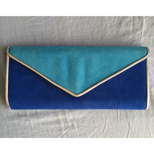 Novo Royal Blue and Silver Clutch