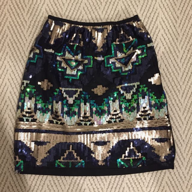 Party Sequin Skirt Size 8 Small