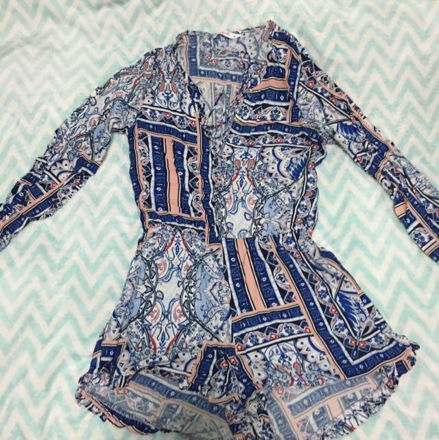 Playsuit With Crossover Detailing