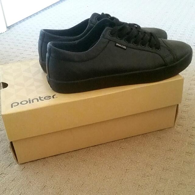 Pointer Black Casual Shoes
